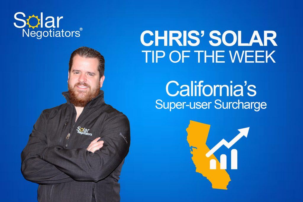 Chris' Solar Tips: Super-User Surcharge